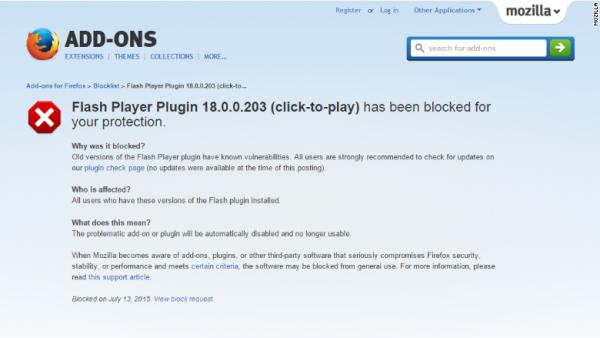 210 Flash 在短暂禁用后重返 Firefox