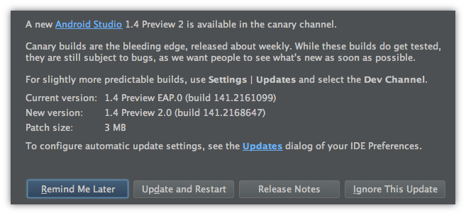 Android Studio  Android Studio 1.4 Preview 2 发布