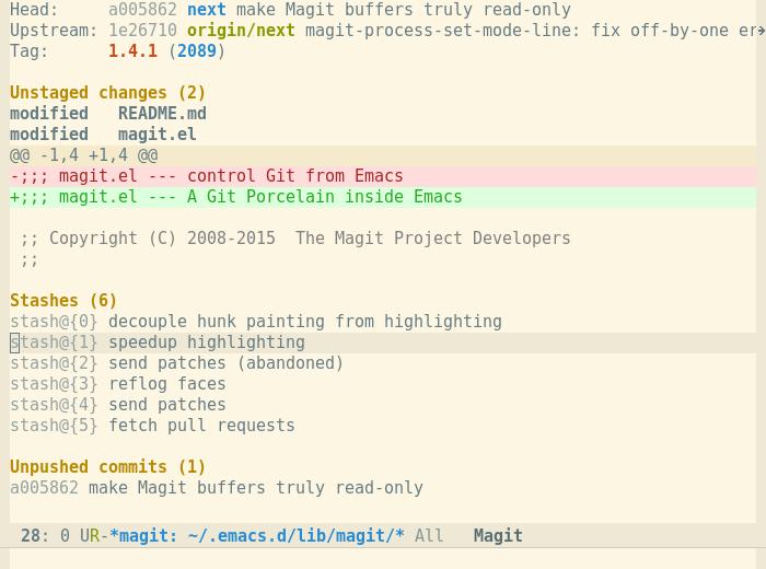 Magit Magit 2.2.0 发布 Git 版本控制系统接口
