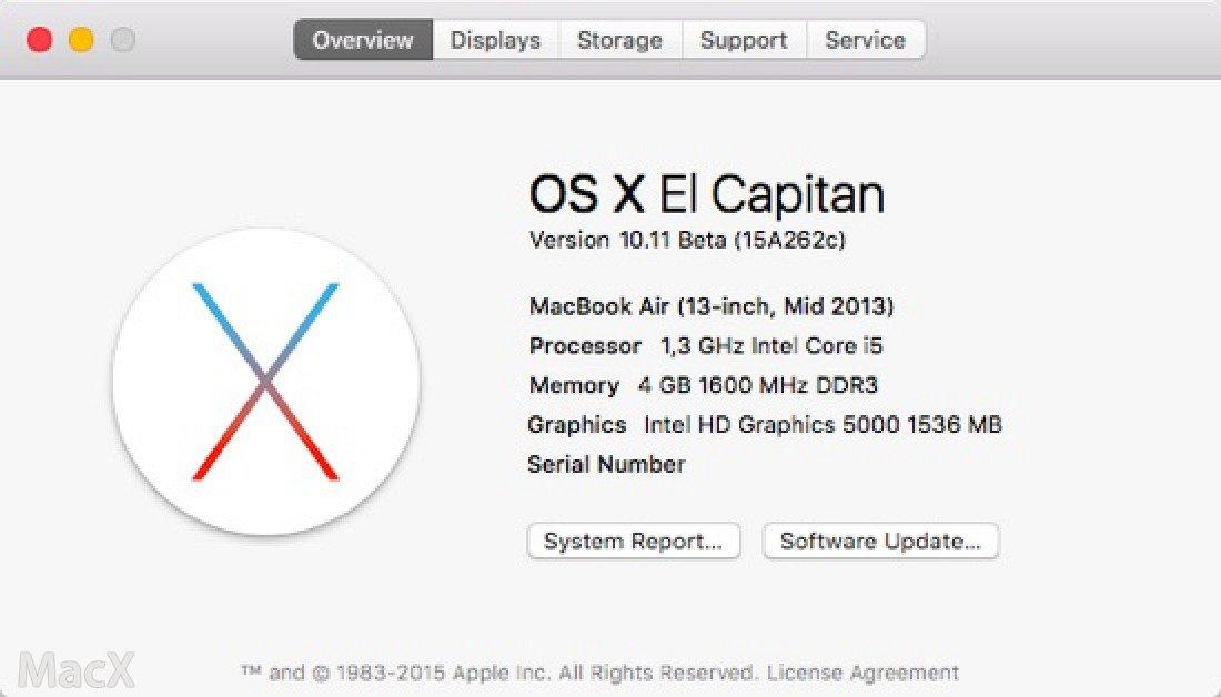 OS4 苹果发布 OS X El Capitan 第五个公测版