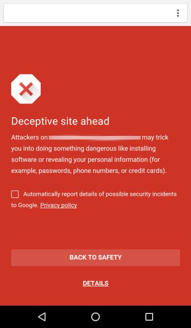 Chrome 谷歌为安卓版 Chrome 开启安全浏览功能