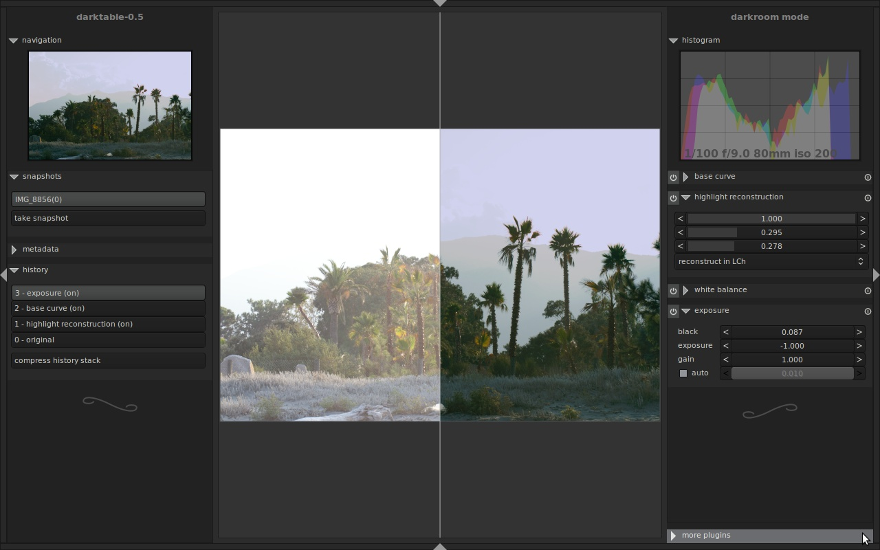 Darktable Darktable 2.0 发布 数字摄影暗房软件