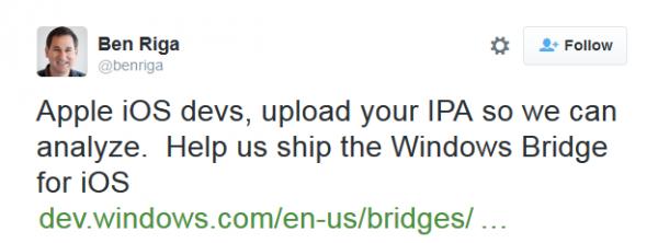 Windows 10 将 iOS 软件移植到 Windows 10 的桥梁将很快打通