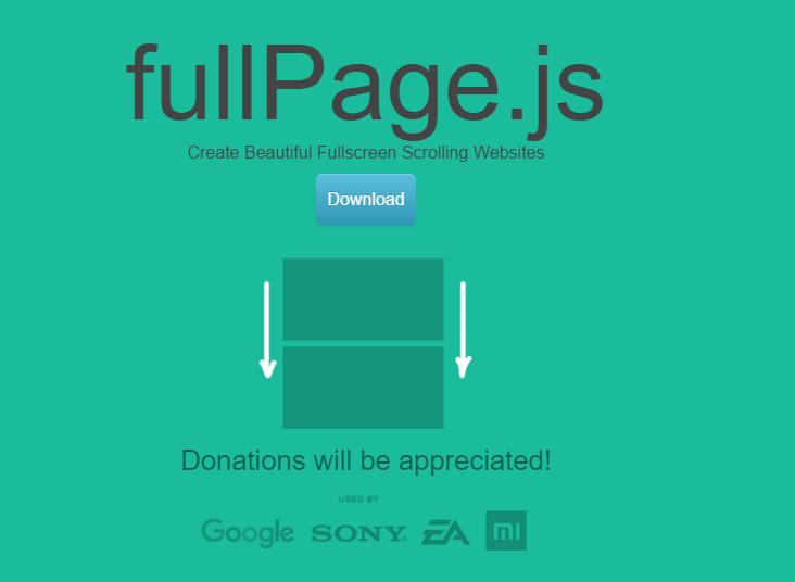 fullPage1 jQuery全屏滚动插件fullPage.js