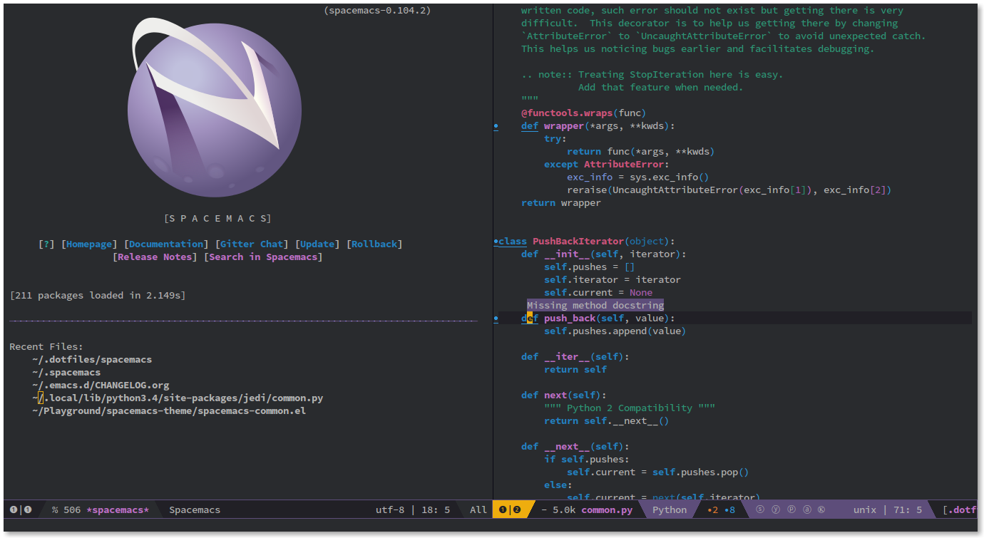 spacemacs spacemacs 0.105.0 发布 Emacs 扩展集合