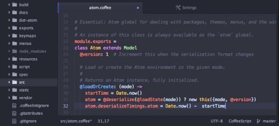 Atom 文本编辑软件 Atom 1.5.0 已经发布