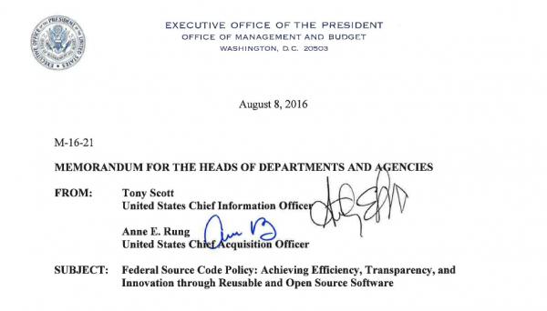 白宫公布联邦开源代码政策-芊雅企服