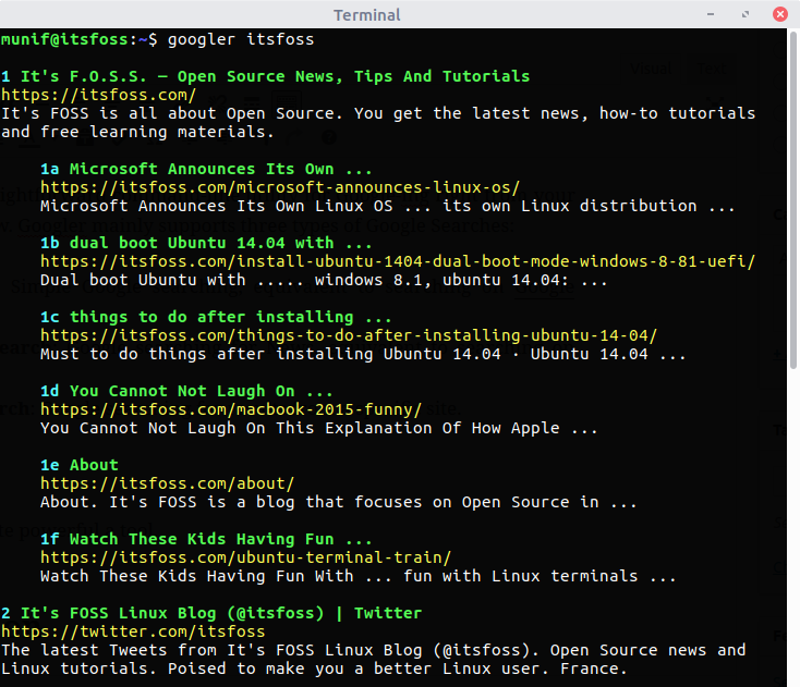 Googler:现在可以 Linux 终端下进行 Google 搜索了-芊雅企服