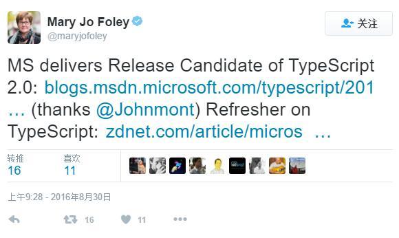 微软即将发布 TypeScript 2.0:候选版本已放出-芊雅企服