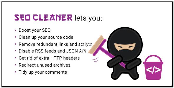 SEO Cleaner 使用SEO Cleaner优化wordpress,打造干净的wordpress网站
