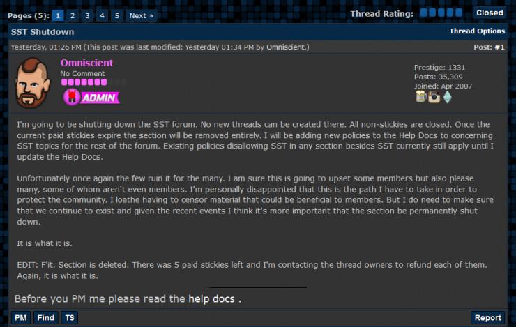 """d2 造成美国断网的""""凶手论坛""""终于关闭了 DDoS 版块"""