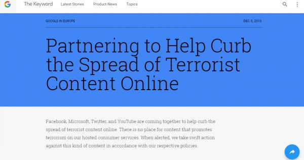 Google 将联手三大巨头打击网络恐怖主义-芊雅企服