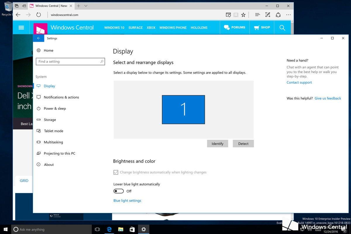 Win10 Build 14997 界面曝光:新增低蓝光模式-芊雅企服