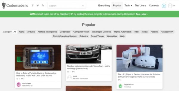 345 CodeMade:寻找开源物联网项目的优秀网站