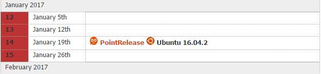 423 Ubuntu 16.04.2 LTS 将于明年 1 月 发布