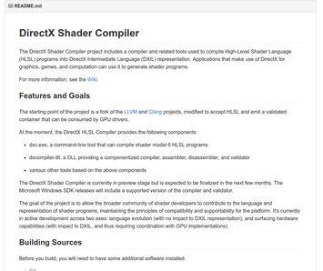 125717 E4bF 2886655 微软正式开源 DirectX 着色器