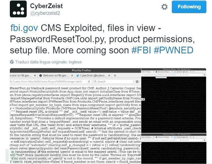 FBI 网站被黑,泄露数据已在 Pastebin 公布-芊雅企服