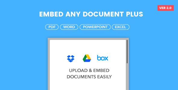 Embed Any Document Plus Embed Any Document Plus v2.0 强大的文档预览插件