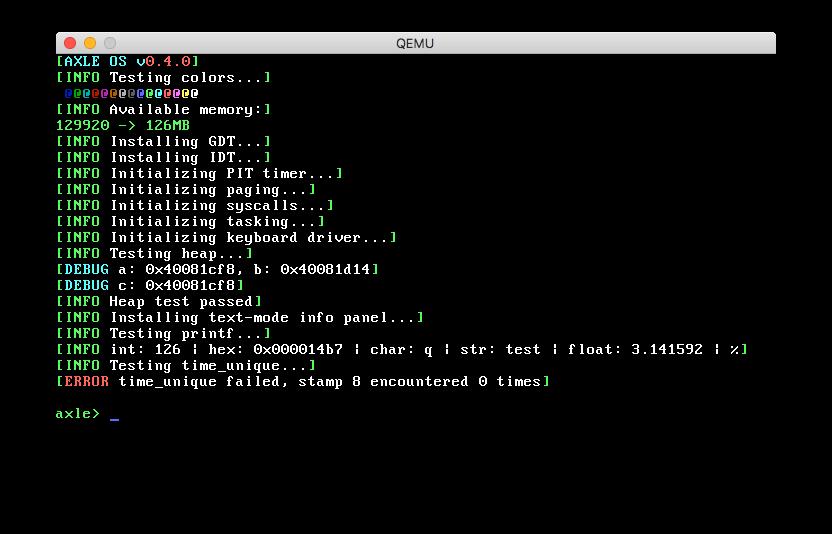 axle1 类 UNIX 操作系统 axle 发布首个公开 alpha 版