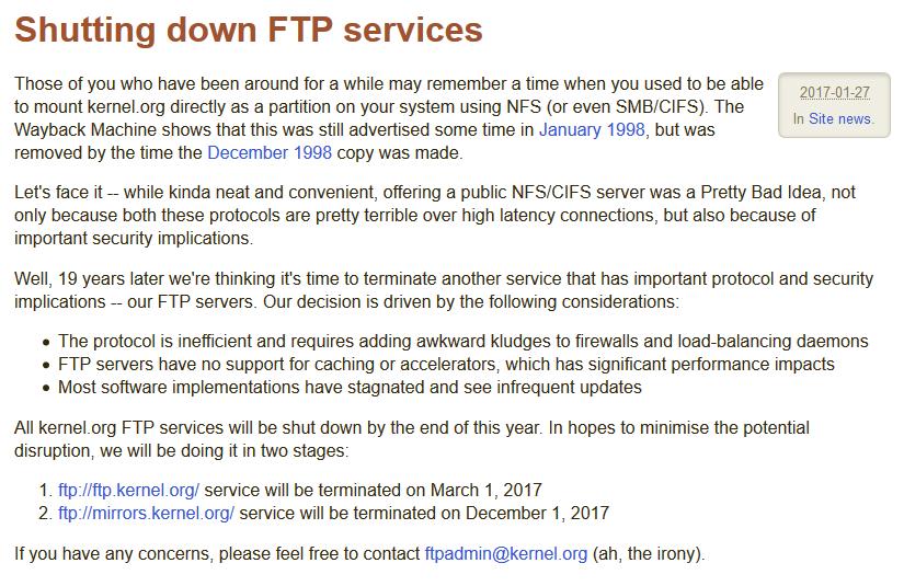 074642 5i2r 2720166 Kernel.org 宣布将关闭 FTP 服务器