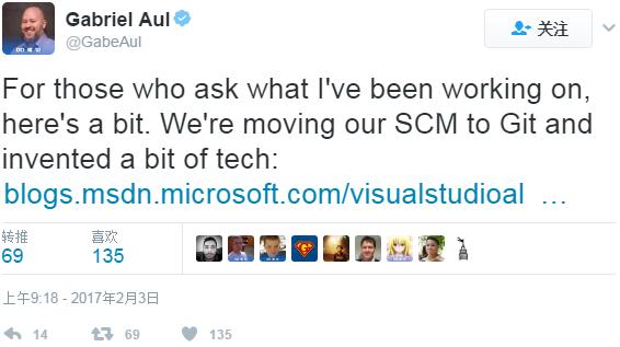 104310 y2vb 2886655 微软宣布开源 Git 虚拟文件系统 GVFS:性能大提升