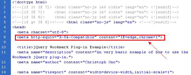ie edge chrome 1 一行代码解决网站在IE8浏览器兼容的问题