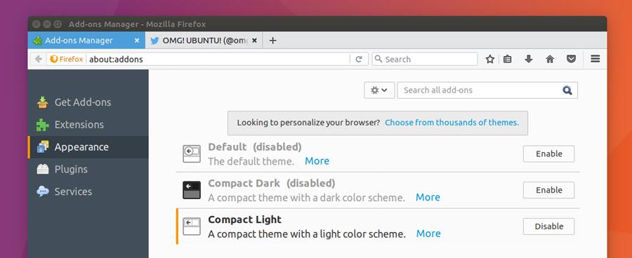 "Firefox 53 Beta 引入两个新 ""Compact"" 主题-芊雅企服"