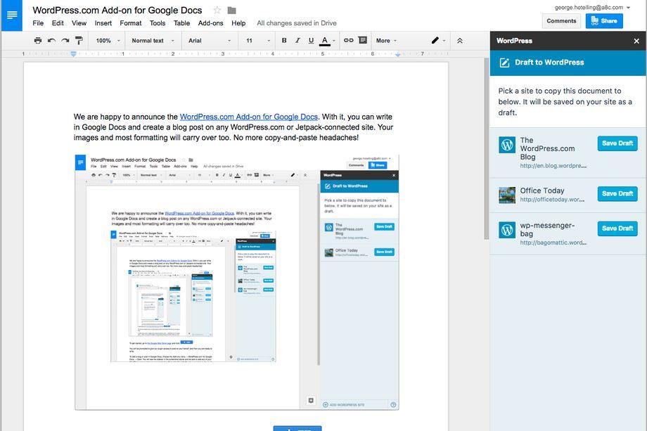 111042 QDzv 2720166 WordPress.com 现支持通过 Google Docs 进行协作编辑