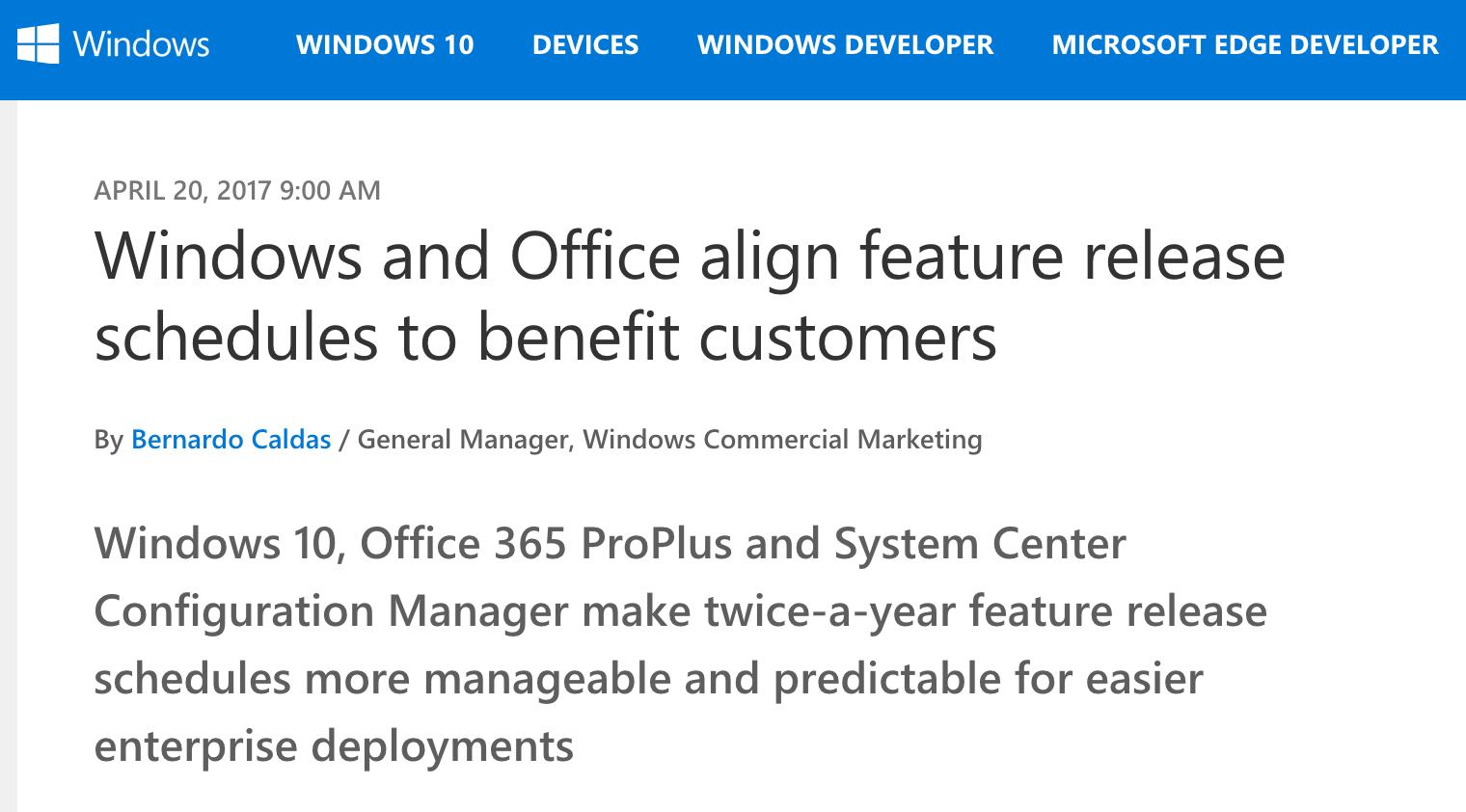 Windows 调整为一年两次大更新,下版本 9 月推出-芊雅企服