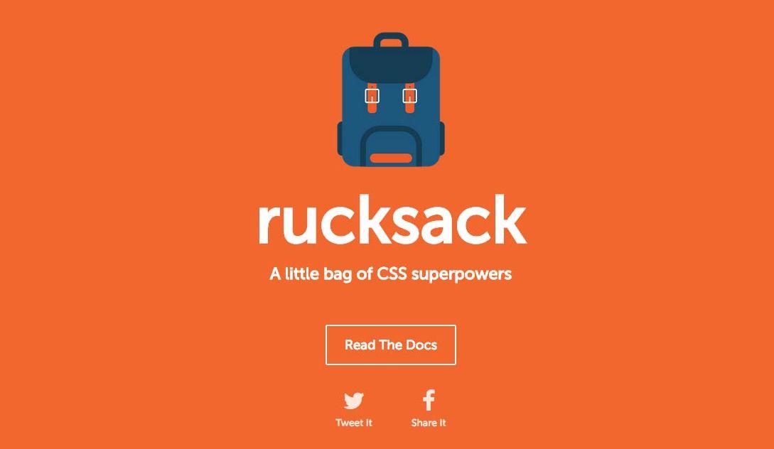 Rucksack – The New CSS compressor 背包   新的CSS开发工具