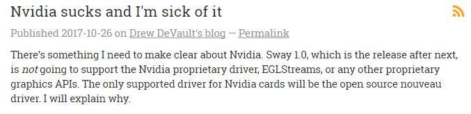 074122 J2pe 2896879 Wayland 开发者发文抨击 Nvidia,驱动支持太差