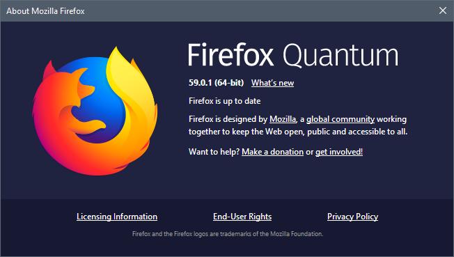 074510 VLED 3703517 Mozilla Firefox 59.0.1 发布,安全更新版本