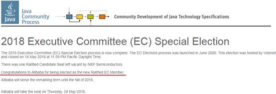 %name 阿里获邀加入 JCP ,参与制定 Java 全球标准和技术规范