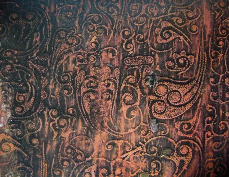 图1 1 3 4 北京老山汉墓出土刺绣残片,西汉 国风雅颂铭欢歌——秦汉刺绣