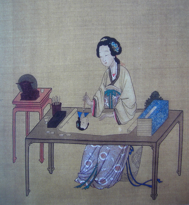 图189 古代女子绘画中 刺绣与国画——古典审美的文化传承