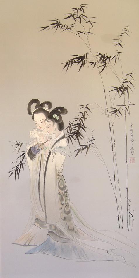 图2 2 1 5,宋绣二乔图(邵晓琤研究、绣制) 如何鉴别和收藏刺绣?