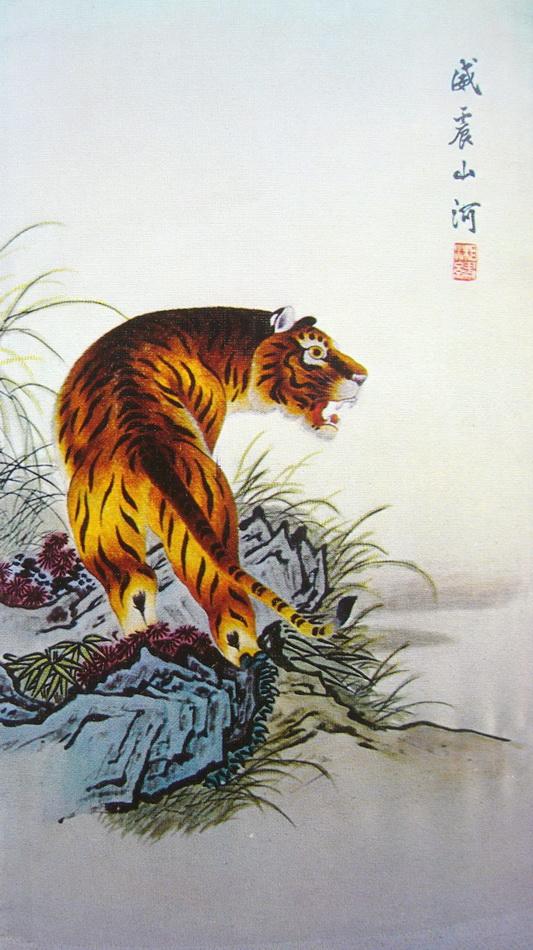 图5 1 6 早期湘绣《虎》 当代刺绣有哪些创新?
