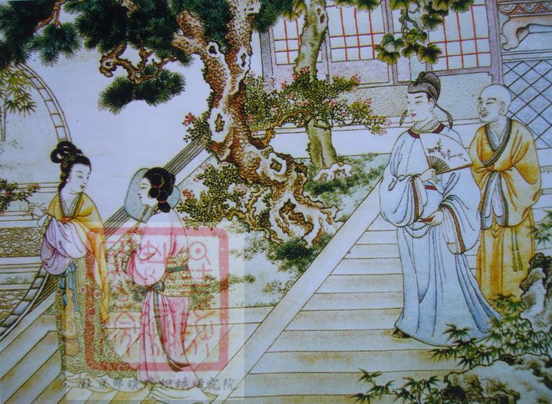 图2 2 2 30 金静芬绣《西厢记》 中国历代刺绣名家之金静芬