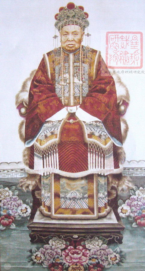 图2 2 2 31 廖家惠绣《吴佩孚之母肖像》,现藏上海博物馆 中国历代刺绣名家之廖家惠