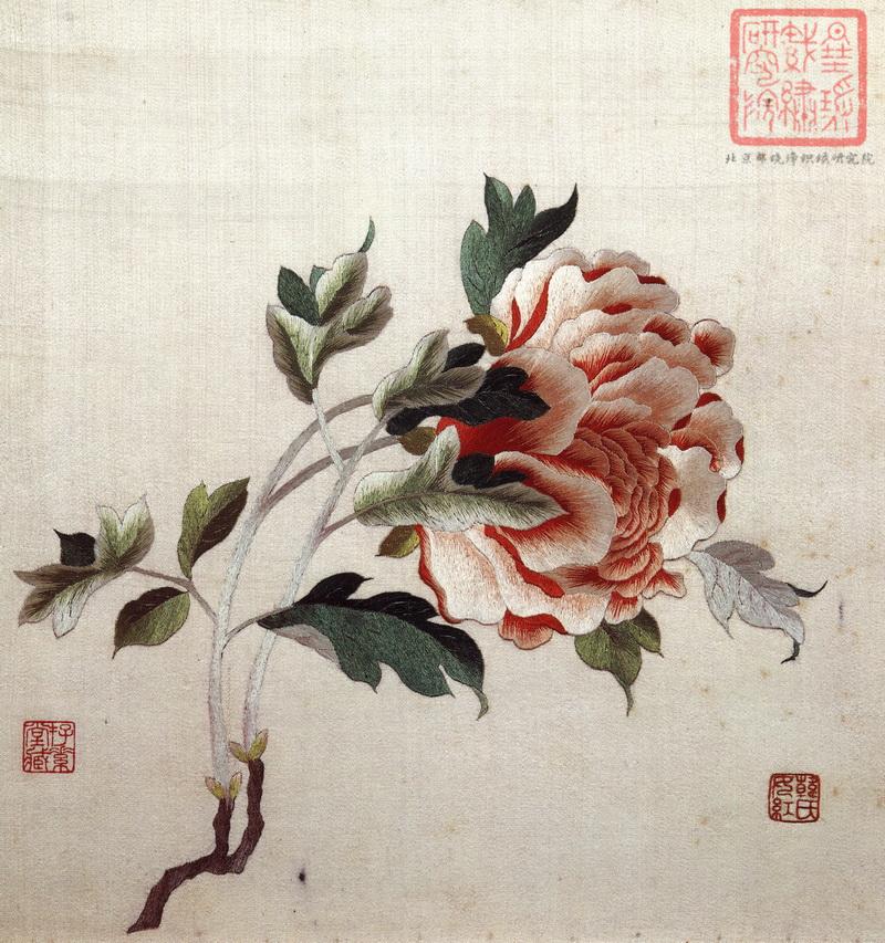 图3 3 当年朱启钤藏顾绣 民国时期中国织绣收藏第一人——朱启钤