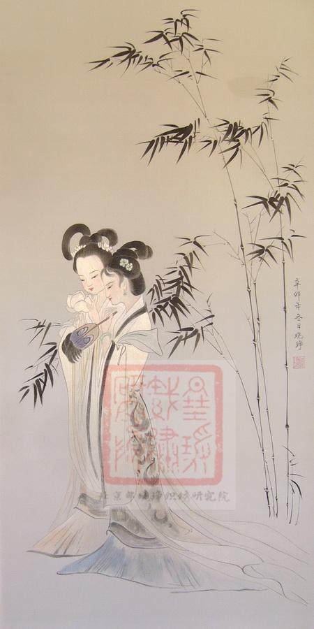 图4 10,宋绣二乔图(邵晓琤研究、绣制) 中国刺绣赏析简述——中国艺术类刺绣和生活类刺绣有什么区别?